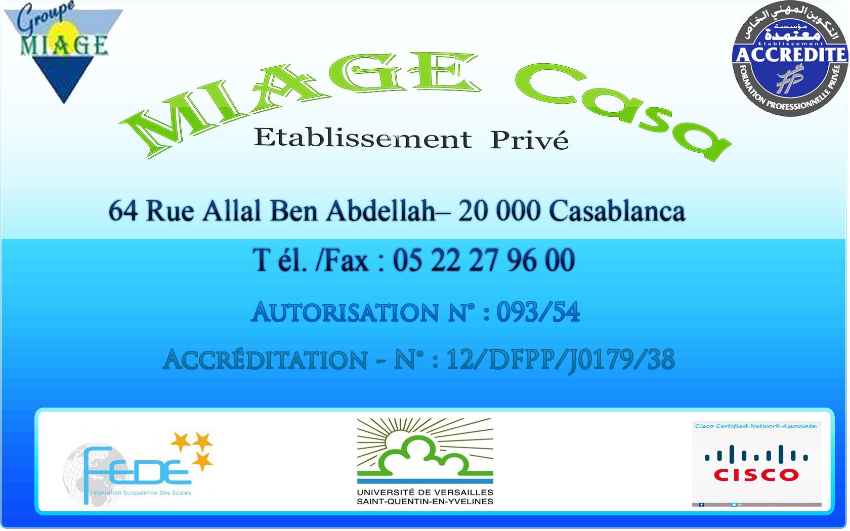Espace MIAGE Casa