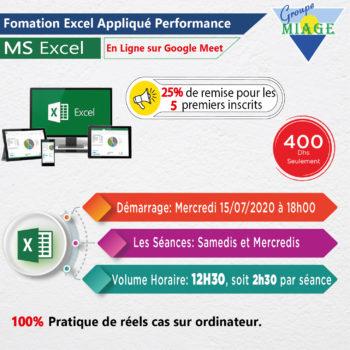 Formation Excel Appliqué-Performance