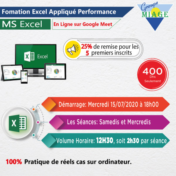 Formation Excel Appliqué-Performance