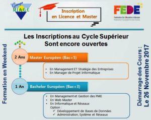 Affiche Information sur inscription au Cycle Supérieur à MIAGE Ksar