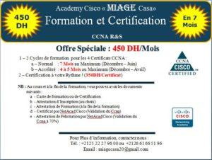 """MIAGE Casa vous offre : Cycle de Formation et Certification en """"CCNA R&S"""" Académiques"""