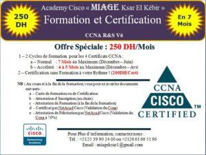 """MIAGE Ksar vous offre : Cycle de Formation et Certification en """"CCNA R&S"""" Académiques"""
