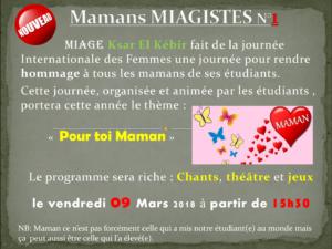 Mamans ''MIAGISTES'' Edition Mars 2018