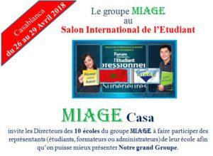Offre de Bourse du groupeMIAGEaux inscrits de MIAGE Casa