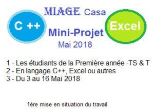 Mise en situation de travail - Mini-projets - Avril 2018
