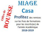 Offre de Bourses – Etude MIAGE Casa