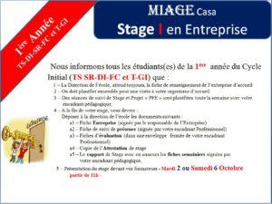 Stage (I et II) en Entreprise