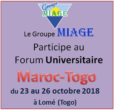 Groupe MIAGE au Forum Universitaire Maroc-Togo Octobre 2018