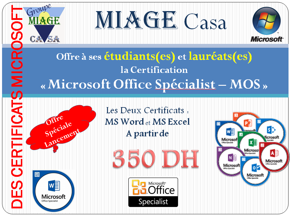 formation et certification microsoft office specialist