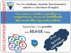 Formation et Certification Microsoft Office Specialist - MOS