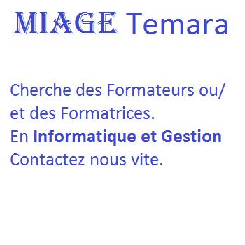 MIAGE Temara cherche Formateurs ou Formatrices